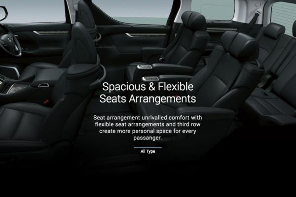 New Vellfire interior kursi - nasmoco pati