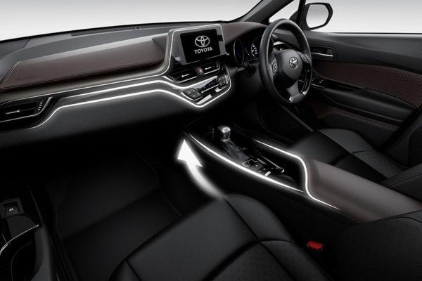 Asymmetric Console All New CHR Toyota Pati