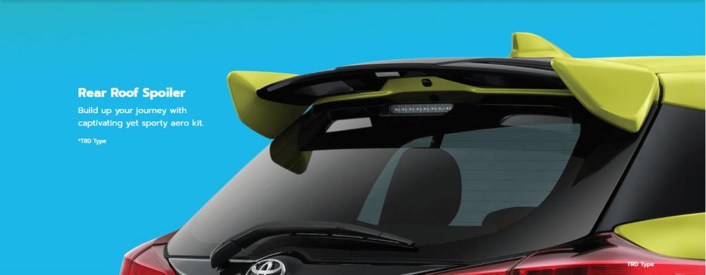Eksterior Spoiler New Yaris - Toyota Nasmoco Pati