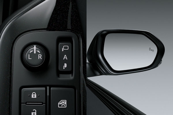 Electrically Retractable Outer Mirror All New CHR Toyota Pati