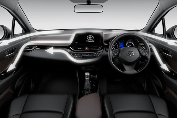 The Black & Brown Interior All New CHR Toyota Pati