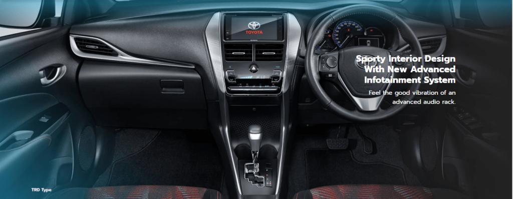 interior dashboard New Yaris - Toyota Nasmoco Pati